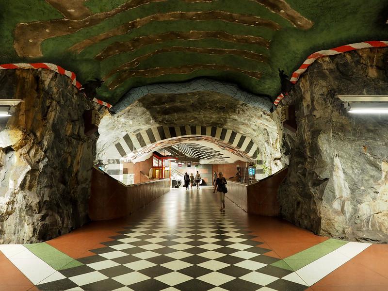 Kungsträdgården metro station in Stockholm