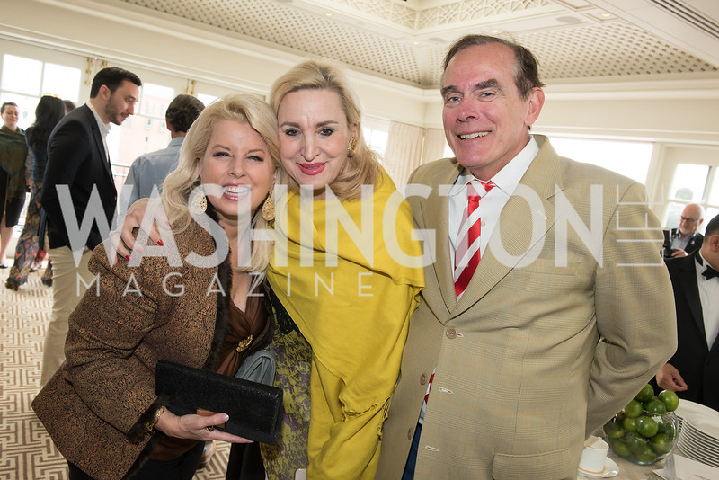 Rita Cosby, Christine Warnke, David Short, WHCD Weekend, Thomson Reuters Brunch, Hay Adams, Apri 29, 2018. Photo by Ben Droz.
