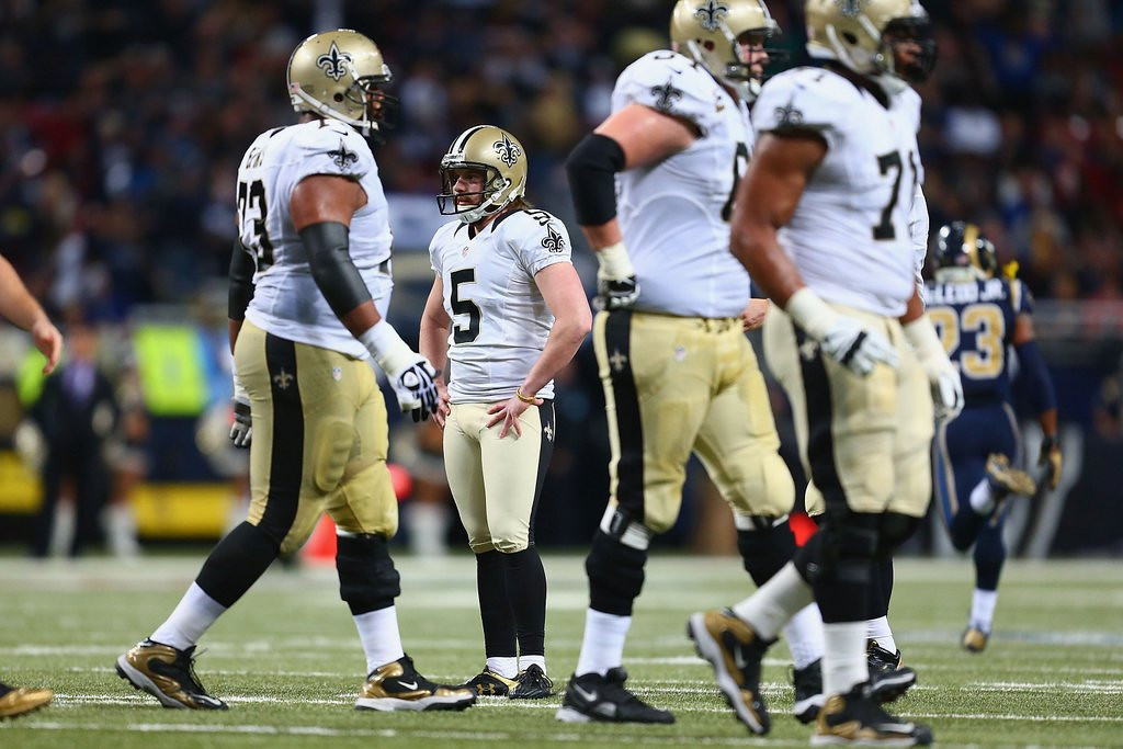 . <p><b> Saints at Panthers (-3):</b>  <p>New Orleans dumped kicker Garrett Hartley, whose 26-yard miss Sunday capped off a career-worst season. While his 73-percent accuracy this year was near the bottom of the league, it did give him a success rate 10 times higher than the HealthCare.gov website. <p>Pick: <b>Saints by 4</b> <p>    (Dilip Vishwanat/Getty Images)