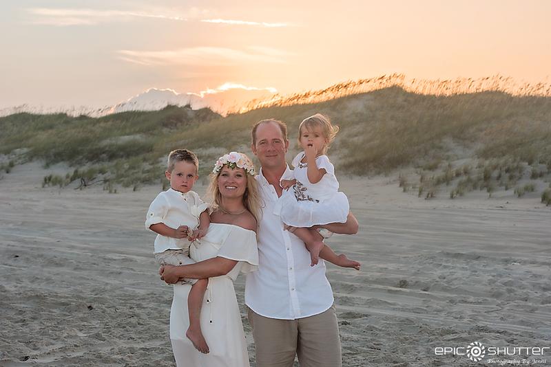 Frisco Ramp 40, Frisco, Hatteras Island, North Carolina, Cape Hatteras National Seashore, Family Portrait's, Sunset, Epic Shutter Photography