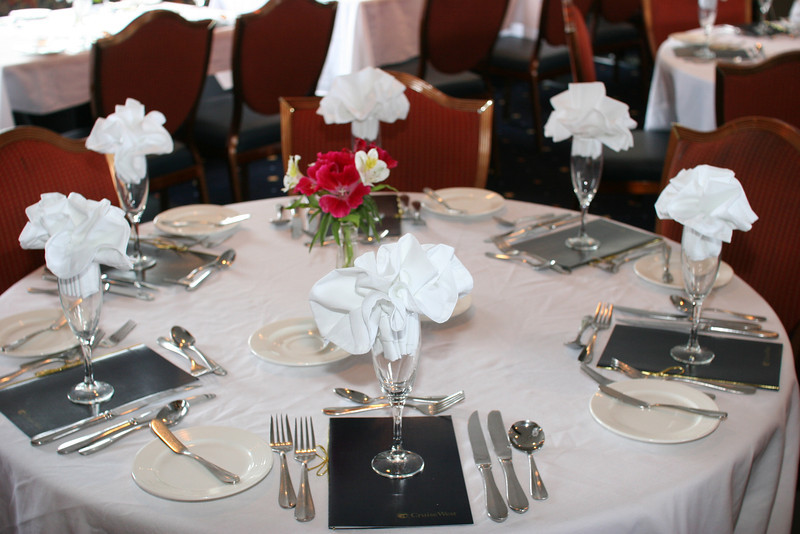 Table for Captain's Dinner (last night)
