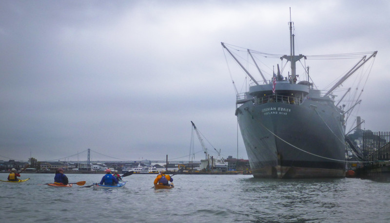 Our first stop is the SS Jeremiah O'Brien.  http://www.ssjeremiahobrien.org/