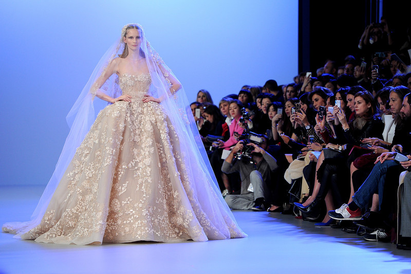 . A model walks the runway during the Elie Saab show as part of Paris Fashion Week Haute Couture Spring/Summer 2014 on January 22, 2014 in Paris, France.  (Photo by Pascal Le Segretain/Getty Images)