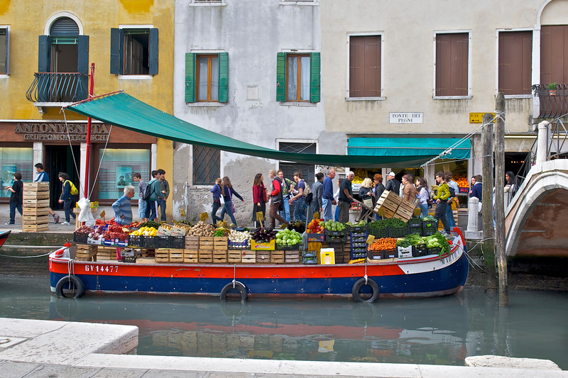 Produce Boat in Venice