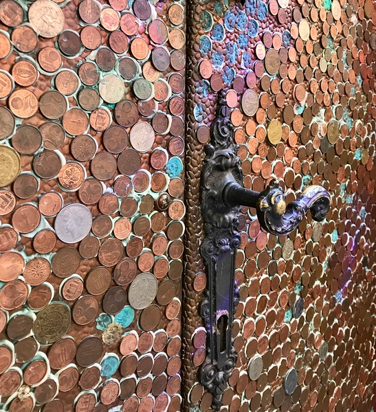 Made up of currency from all over the world!