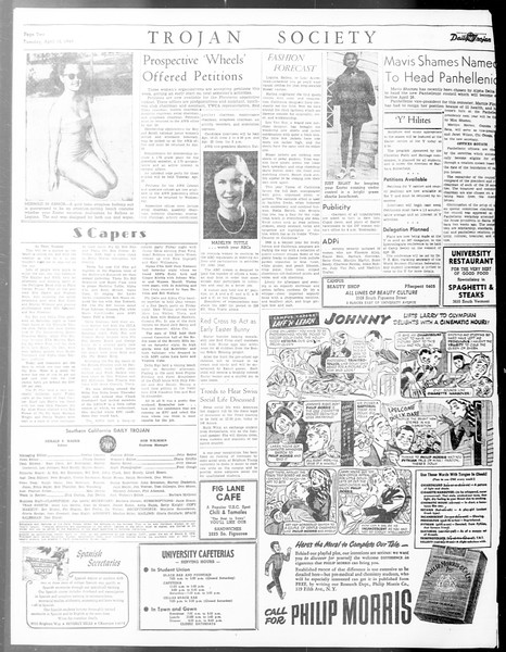 Daily Trojan, Vol. 40, No. 118, April 12, 1949