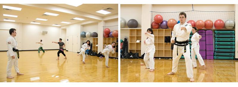 Taekwondo instructor Martin Hass guides the member of TAMU-CC Taekwondo club.