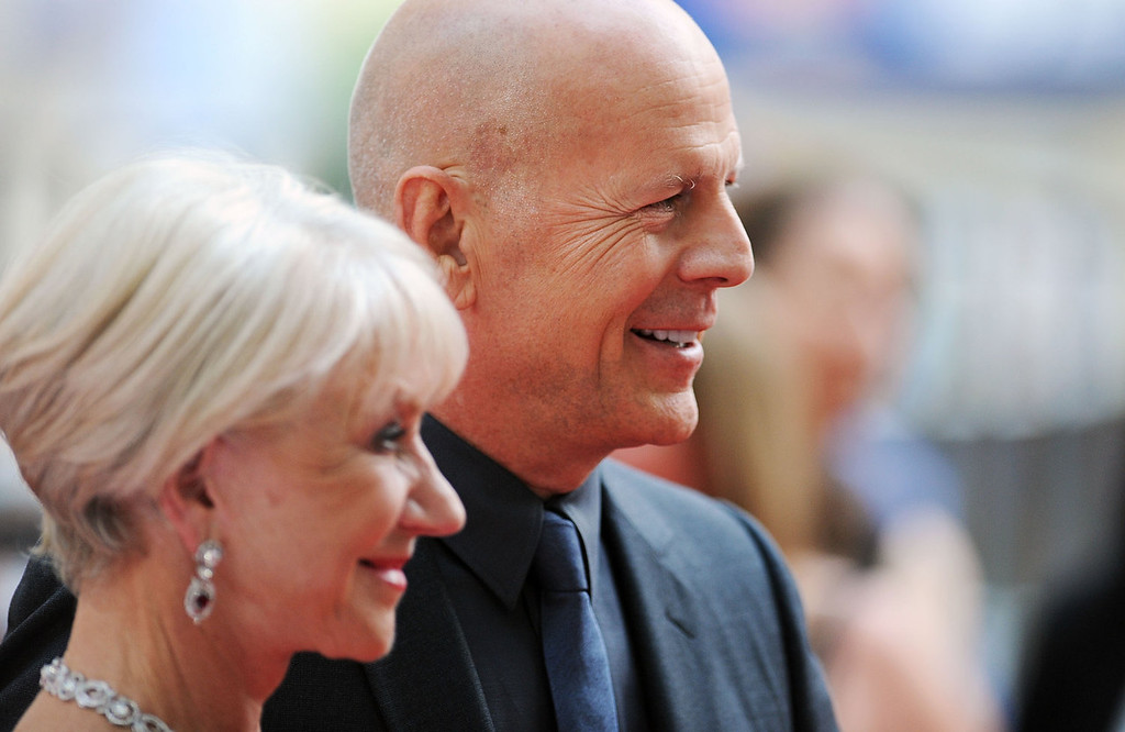 . Bruce Willis and Dame Helen Mirren attends the European Premiere of \'Red 2\' at Empire Leicester Square on July 22, 2013 in London, England.  (Photo by Stuart C. Wilson/Getty Images)