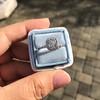 1.59ct Antique Cushion Cut Diamond Halo Ring GIA K VS2 12