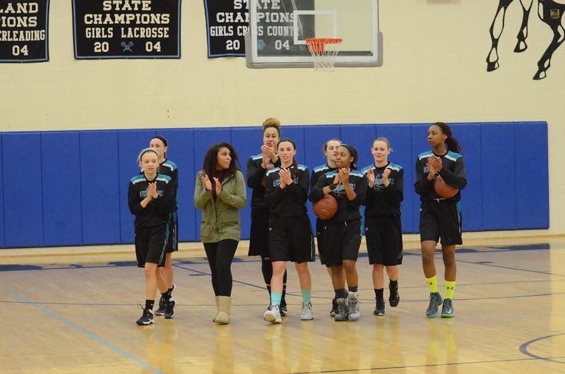 Varsity Girls Basketball Feb 5 vs C Milton Wright
