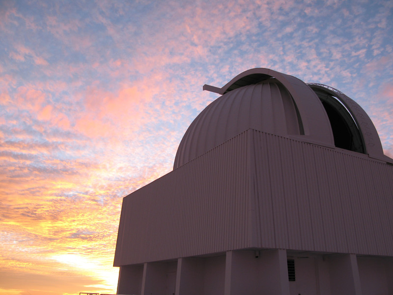 0.9m telescope at sunset