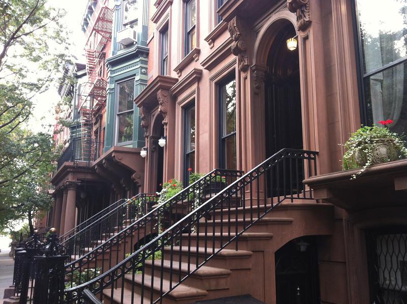 Historic brownstones in Brooklyn Heights