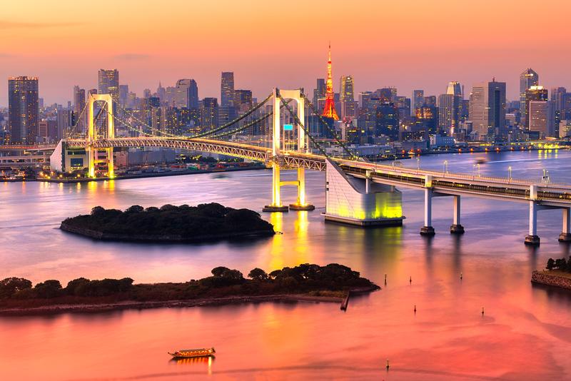 Tokyo evening shot from Odaiba