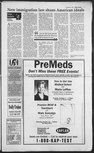 Daily Trojan, Vol. 132, No. 29, October 09, 1997