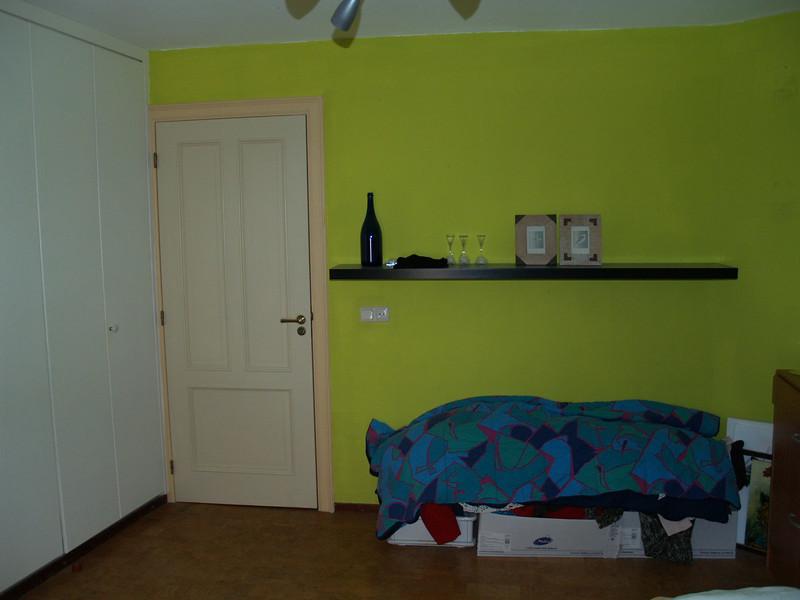 Slaapkamer 4, achterwand en muurkast