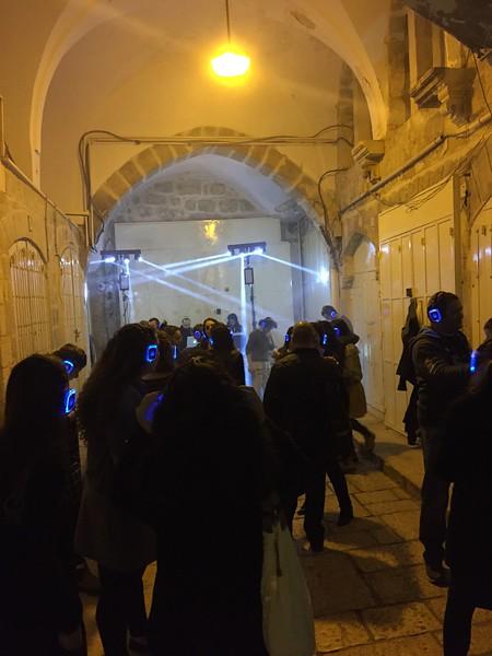 Silent dance party in the Jewish Quarter, Jerusalem - Bridget St. Clair