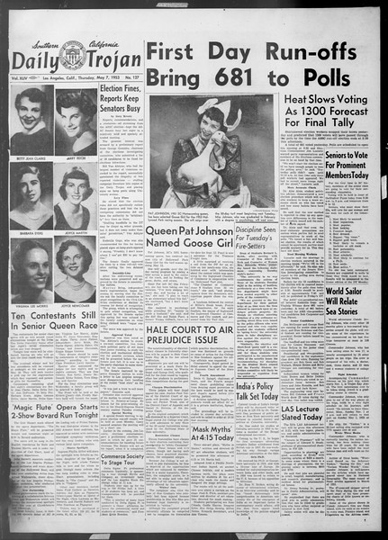 Daily Trojan, Vol. 44, No. 127, May 07, 1953