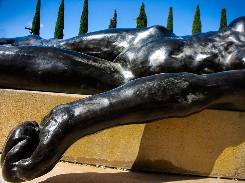 Rodin sculpture, Stanford University, California, 2005