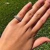 1.65ctw French Cut Diamond -Stone Band, by Single Stone 18