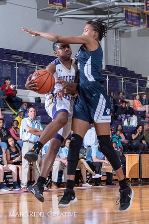 Broughton girls varsity basketball vs Millbrook. February 15, 2019. 750_7304