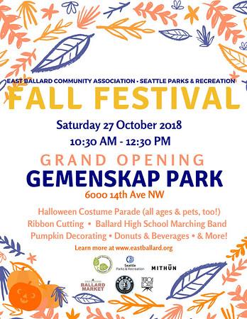 Gemenskap Park grand opening 10-27-18