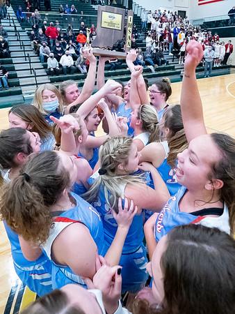 02-06-2021 Lakeland vs NorthWood IHSAA 2021 Class 3A Girls Basketball Sectional Championship