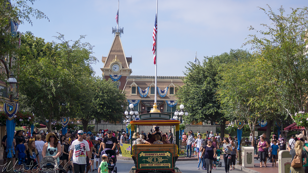 Disneyland Resort, Disneyland, Main Street USA, Flag, Half, Staff, Memory, Victim