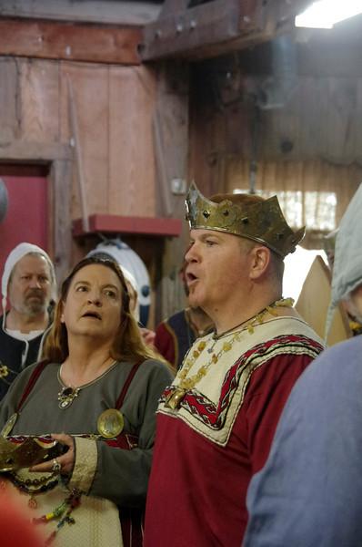 Brigit & Uther crowning