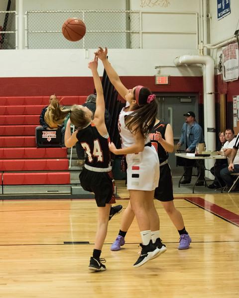 2020 JV Girls Basketball:  Hall-Dale vs Gardiner