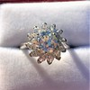 2.87ctw old European Cut Diamond Spray Ring GIA J SI1 5
