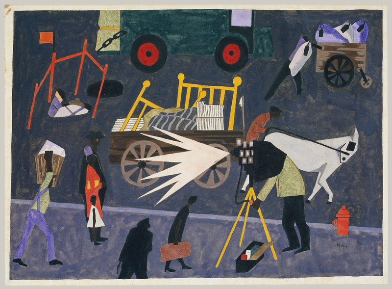 "Jacob Lawrence, ""The Photographer"" (1942)"