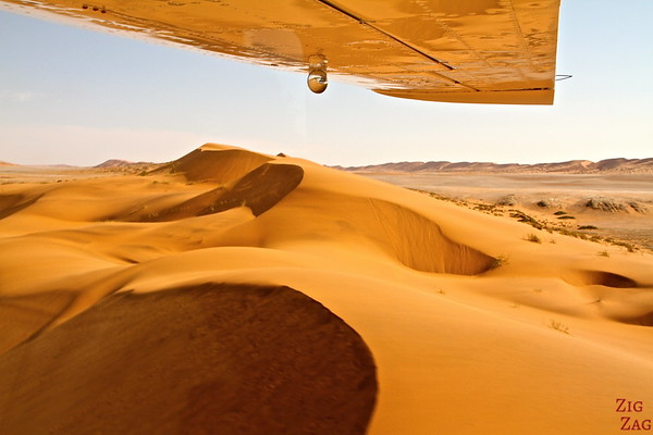 Flying over Sossusvlei sand dunes, Namibia photo 6