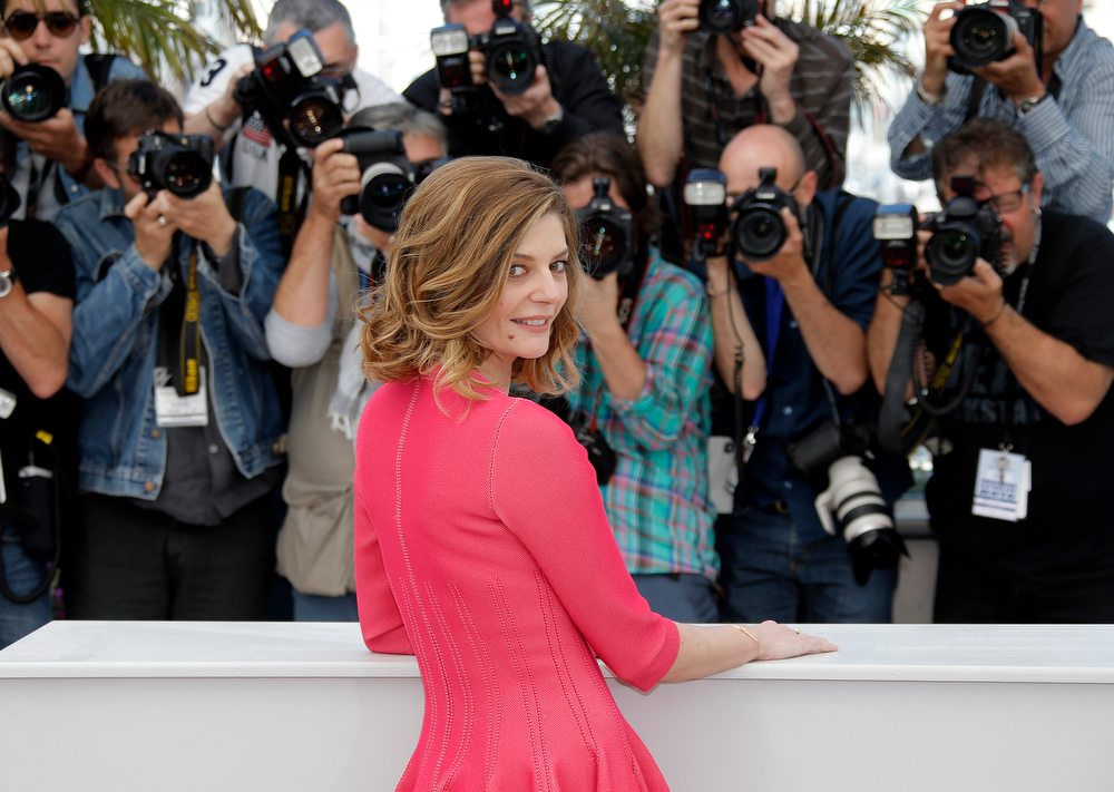 . Actress Chiara Mastroianni poses for photographers during a photo call for the film Bastards at the 66th international film festival, in Cannes, southern France, Wednesday, May 22, 2013. (AP Photo/Lionel Cironneau)