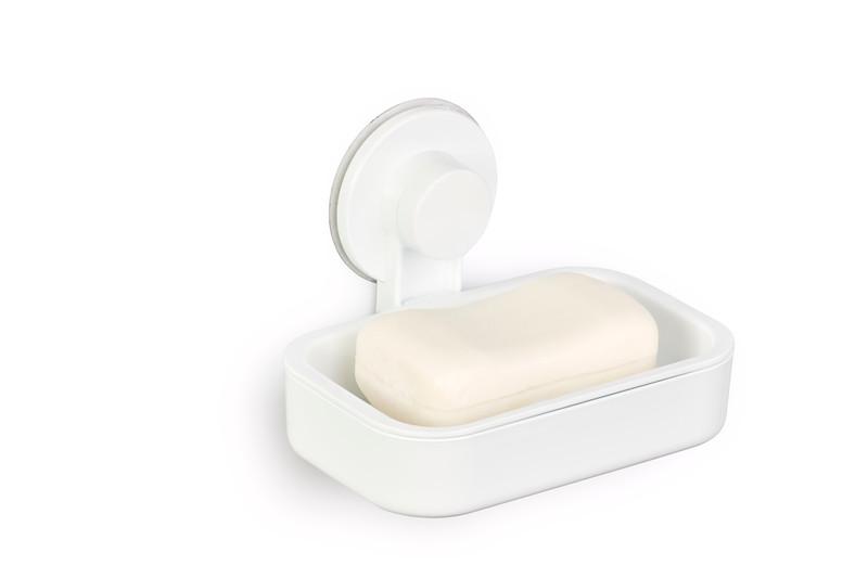 Gelmar Perma Power Suction Soap Dish White