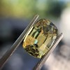 4.06ct Yellow-Chartreuse Sapphire with GIA, No-Heat 10