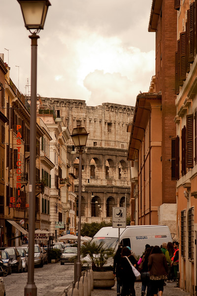 Colosseum in the Distance in Rome Italy