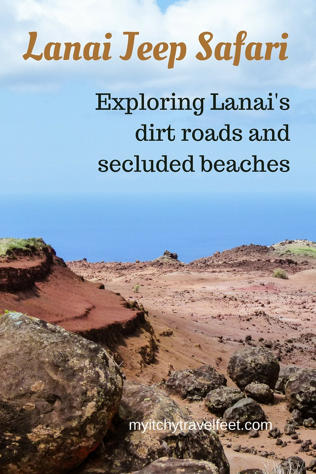 Lanai jeep safari. Exploring Lanai's dirt roads and secluded beaches. #boomertravel #lanai #adventure