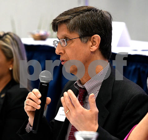 2/21/2018 Mike Orazzi | Staff State Rep. Mike Demicco during the Central Connecticut Chambers of Commerce 2018 Legislative Breakfast held at the DoubleTree by Hilton Hotel Bristol in Bristol Wednesday morning.