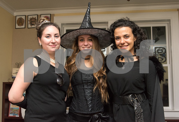 10/27/17 Wesley Bunnell | Staff The New Britain Museum of American Art held their Museum After Dark 11th Annual Halloween Bash on Friday evening. Melanie Blain, Kate Mordarski and Tina Dutra.