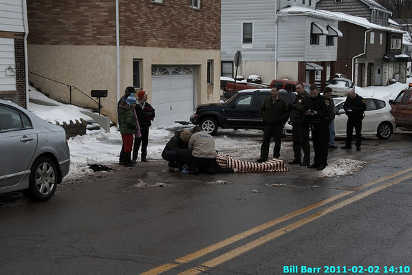 Man struck by plow, Hazleton  2/2/11