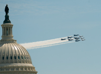 Blue Angels, Thunderbirds Fly Over DC  (5/2/20)