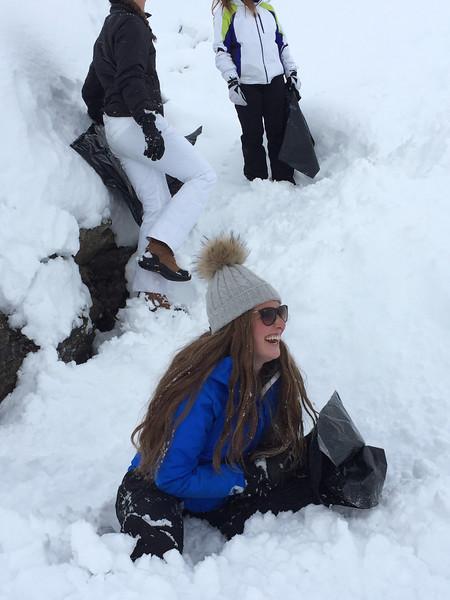 Cecelia enjoying her sledding experience