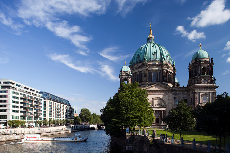 The Cathedral from the Spree river, Berlin, Germany