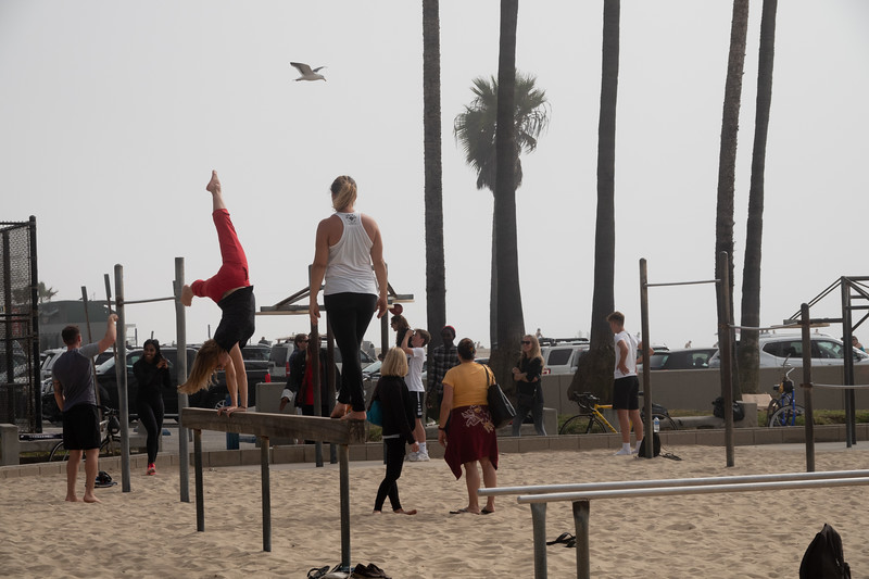 More balance practice in Muscle Beach