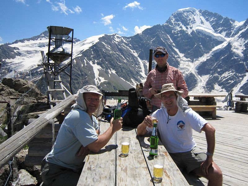 Stopped for bottle of beer on our way down.