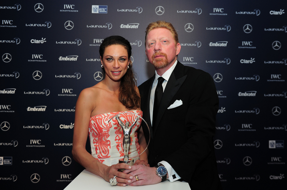 . Laureus Academy Member Boris Becker and wife Lily Becker attends the 2013 Laureus World Sports Awards at the Theatro Municipal Do Rio de Janeiro on March 11, 2013 in Rio de Janeiro, Brazil.  (Photo by Jamie McDonald/Getty Images For Laureus)