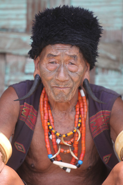 Tribal elders (and even some young men) still dress in traditional clothes.