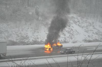 02/03/2014 - I-78 Pickup Truck Fire