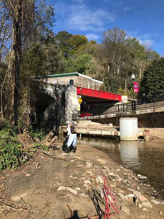 10.29.18 Patapsco River at Ellicott City Bridge Cleanup with HCC