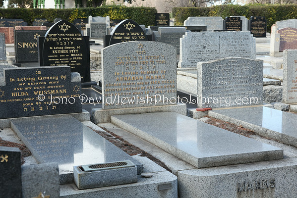 AUSTRALIA, Victoria, Melbourne. Jewish sectors, Melbourne General Cemetery. (8.2010)